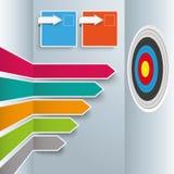 Χρωματισμένος σπασμένος στόχος Infographic βελών απεικόνιση αποθεμάτων