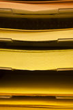 Χρωματισμένος σωρός εγγράφων Στοκ φωτογραφία με δικαίωμα ελεύθερης χρήσης