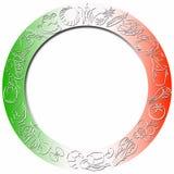 χρωματισμένος σύνορα κύκλ ελεύθερη απεικόνιση δικαιώματος