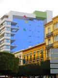 Χρωματισμένος τοίχος στη πολυκατοικία της Αλμερία Στοκ εικόνα με δικαίωμα ελεύθερης χρήσης