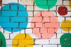 χρωματισμένος τούβλο τοίχος Στοκ φωτογραφία με δικαίωμα ελεύθερης χρήσης