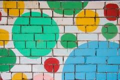 χρωματισμένος τούβλο τοίχος Στοκ Φωτογραφίες