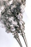 χρωματισμένος τρύγος καπνός στο άσπρο υπόβαθρο Στοκ Εικόνες