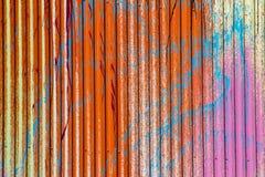 Χρωματισμένος τρύγος metall τοίχος Στοκ φωτογραφία με δικαίωμα ελεύθερης χρήσης