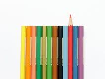 Χρωματισμένος υπόλοιπος κόσμος μολυβιών Στοκ Εικόνα