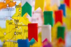 χρωματισμένος χάρτης σημα&iot Στοκ Εικόνες