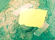 Χρωματισμένος χάρτης Στοκ Εικόνες
