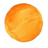 Χρωματισμένος χέρι κύκλος Watercolor Όμορφα στοιχεία σχεδίου Κίτρινη ανασκόπηση Στοκ Φωτογραφίες