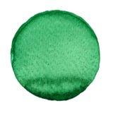 Χρωματισμένος χέρι κύκλος Watercolor Όμορφα στοιχεία σχεδίου Πράσινη ανασκόπηση Στοκ φωτογραφία με δικαίωμα ελεύθερης χρήσης