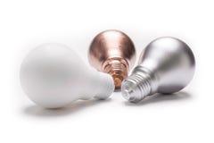 Χρωματισμένος lightbulb Στοκ Εικόνα