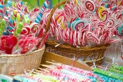 χρωματισμένος lollipops Στοκ Φωτογραφία