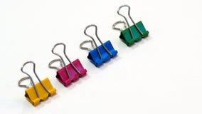 Χρωματισμένος Packshot συνδετήρας συνδέσμων Στοκ Εικόνες