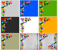 Χρωματισμένος pawprints στο γκρίζο μπεζ υπόβαθρο διανυσματική απεικόνιση