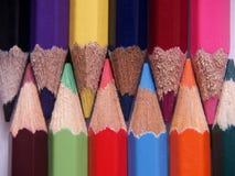 χρωματισμένος pecils Στοκ φωτογραφίες με δικαίωμα ελεύθερης χρήσης
