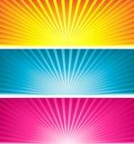 χρωματισμένος starbursts ελεύθερη απεικόνιση δικαιώματος