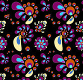 Χρωματισμένος swirly Στοκ Εικόνες