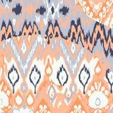 Χρωματισμένο άνευ ραφής εθνικό σχέδιο τυπωμένων υλών Στοκ εικόνα με δικαίωμα ελεύθερης χρήσης