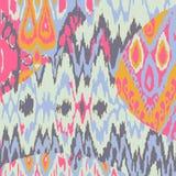 Χρωματισμένο άνευ ραφής εθνικό σχέδιο τυπωμένων υλών Στοκ Εικόνες