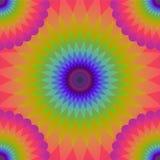 Χρωματισμένο άνευ ραφής σχέδιο κύκλων Στοκ Εικόνες
