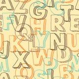 Χρωματισμένο άνευ ραφής σχέδιο με τις επιστολές του αλφάβητου Στοκ εικόνα με δικαίωμα ελεύθερης χρήσης