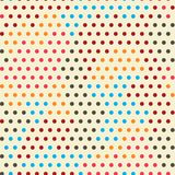 Χρωματισμένο άνευ ραφής σχέδιο σημείων Στοκ Εικόνα