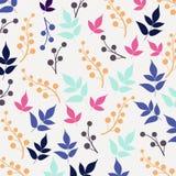 Χρωματισμένο άνευ ραφής σχέδιο στο θέμα φύλλων Φθινόπωρο Στοκ Φωτογραφία