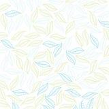 Χρωματισμένο άνευ ραφής σχέδιο στο θέμα φύλλων Φθινόπωρο Στοκ Φωτογραφίες