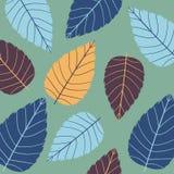 Χρωματισμένο άνευ ραφής σχέδιο στο θέμα φύλλων Φθινόπωρο Στοκ φωτογραφία με δικαίωμα ελεύθερης χρήσης