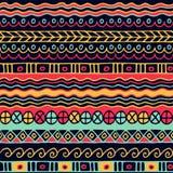 Χρωματισμένο άνευ ραφής σχέδιο των λωρίδων Στοκ Εικόνα