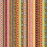 Χρωματισμένο άνευ ραφής σχέδιο των λωρίδων Στοκ Φωτογραφίες