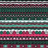 Χρωματισμένο άνευ ραφής σχέδιο των λωρίδων Στοκ Εικόνες