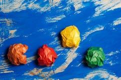 Χρωματισμένο έγγραφο για το μπλε αφηρημένο υπόβαθρο Έννοια Ιδέα για το lif Στοκ φωτογραφία με δικαίωμα ελεύθερης χρήσης