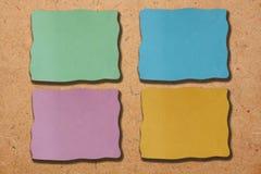 χρωματισμένο έγγραφο σημ&epsilo Στοκ εικόνες με δικαίωμα ελεύθερης χρήσης