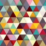 Χρωματισμένο έγγραφο υπόβαθρο τριγώνων διάνυσμα Στοκ Εικόνα