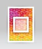 Χρωματισμένο έμβλημα κύβων Στοκ Εικόνες