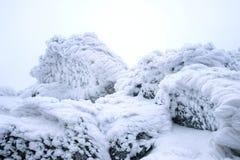 Χρωματισμένο αέρας σχέδιο σύστασης χιονιού στο υπόβαθρο πετρών Στοκ Εικόνα