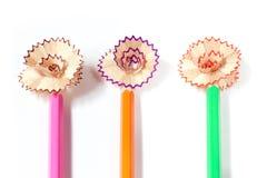 Χρωματισμένο ακονίζοντας λουλούδι μολυβιών στοκ φωτογραφία με δικαίωμα ελεύθερης χρήσης