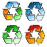 χρωματισμένο ανακύκλωσης σύμβολο Στοκ φωτογραφίες με δικαίωμα ελεύθερης χρήσης