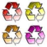 χρωματισμένο ανακύκλωσης σύμβολο Στοκ Εικόνα