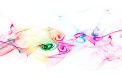χρωματισμένο ανασκόπηση λευκό καπνού Στοκ Εικόνες
