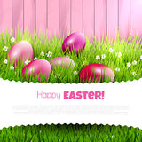 χρωματισμένο ανασκόπηση Πάσχας αυγών eps8 διάνυσμα τουλιπών μορφής κόκκινο Στοκ εικόνα με δικαίωμα ελεύθερης χρήσης