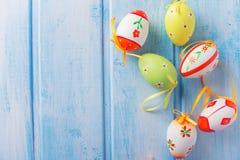 χρωματισμένο ανασκόπηση Πάσχας αυγών eps8 διάνυσμα τουλιπών μορφής κόκκινο Στοκ Εικόνα