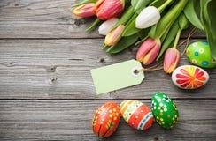 χρωματισμένο ανασκόπηση Πάσχας αυγών eps8 διάνυσμα τουλιπών μορφής κόκκινο Στοκ φωτογραφίες με δικαίωμα ελεύθερης χρήσης
