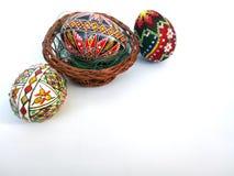 χρωματισμένο ανασκόπηση Πάσχας αυγών eps8 διάνυσμα τουλιπών μορφής κόκκινο Στοκ Φωτογραφία