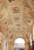 Χρωματισμένο ανώτατο όριο στο Loggia delle Benedizioni, Ρώμη, Ιταλία Στοκ Εικόνες