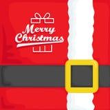 χρωματισμένο απεικόνιση santa χεριών Claus Χριστουγέννων καρτών Στοκ Εικόνες