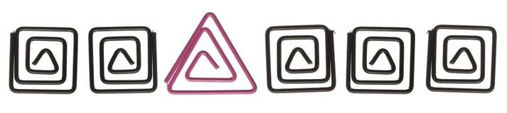 χρωματισμένο απομονωμένο paperclips λευκό Στοκ εικόνα με δικαίωμα ελεύθερης χρήσης
