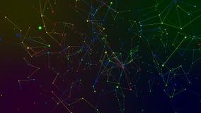 Χρωματισμένο αφηρημένο υπόβαθρο γεωμετρίας Στοκ εικόνα με δικαίωμα ελεύθερης χρήσης