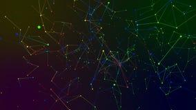 Χρωματισμένο αφηρημένο υπόβαθρο γεωμετρίας Στοκ Φωτογραφίες