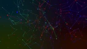 Χρωματισμένο αφηρημένο υπόβαθρο γεωμετρίας Στοκ Εικόνες